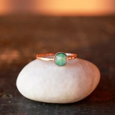 Opal and Gold Solitaire Ring 14k Recycled Gold by ShopClementine, on etsy