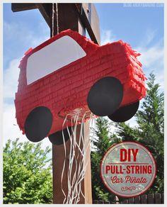 DIY Pull-string Car piñata - Piñata de coche