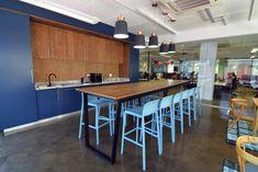 White & Light Blue Faro Bar Stool h75
