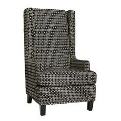 Be the king of your castle with a stunning black and white geometric wingback chair. Give Me Home, Homesense, Black And White Design, English Style, Ballard Designs, Marshalls, Living Room, Wingback Chair, Decoration