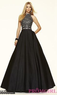 Ball Gown Style High Neck Prom Dress by Mori Lee at PromGirl.com
