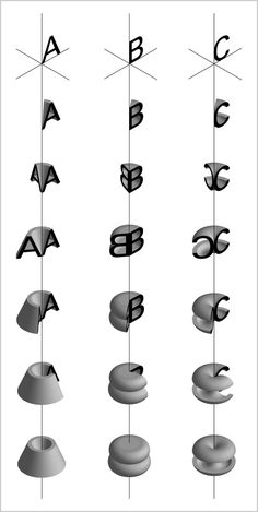 Check Out The Alphabet, Redrawn By Spinning Letters Into 3-D | Co.Design: business + innovation + design