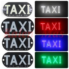 [Kalen Mas] Windows Shield Parabrisas Delantero Universal 4 colores Llevó La Luz de Taxi Cab Entrar Lámpara Car-Styling Uber Requisito Freeship
