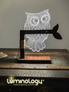 #owl #lamp by #luminologystudio ✨ . . Lampe #hibou 🦉 . . #lamps #lamps3d Owl Lamp, Lamps, Gift Ideas, Make It Yourself, Studio, Gifts, Lightbulbs, Presents, Studios