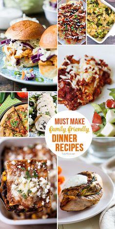 Family Friendly Dinner Recipes