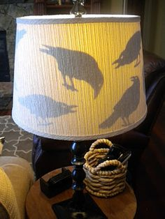 46 best halloween lamp shades images on pinterest holidays sunshine on the inside simple halloween lampshade update aloadofball Images