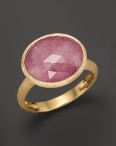 Marco Bicego Siviglia 18K Gold Pink Sapphire Ring | Bloomingdale's