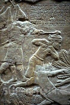 Ashurbanipal at the Battle of Til-Tuba, Assyrian, 650-620 BCE