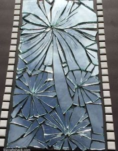 turn a broken mirror into art instead of throwing it away, crafts, home decor, repurposing upcycling