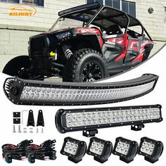 """Fit Ford Dodge Toyota Cherokee ZJ 50/"""" Curved LED Offroad Light Bar Pods Wiring"""