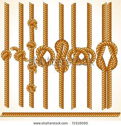 Buy Rope Borders by PILart on GraphicRiver. Cord or Rope Borders with Various Knots. Set of Vector Design Elements Pack Includes versions: – . Rope Tattoo, Knot Tattoo, Rope Knots, Desenho Tattoo, Borders And Frames, Fishing Tips, Fishing Knots, Sisal, Vector Design