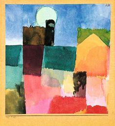 Paul KLEE (1879-1940) / Le lever de la lune / Moonrise / Mondaufgang / aquarelle sur fabriano 1915, 242 - 18,4 x 17,2 cm