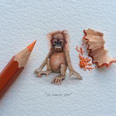 """Day 47/100 (12/25 #fursdays) : Happy International Orangutan Day! The Malay word ""orangutan"" means ""person of the forest""..."