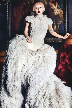Lady Gaga in Alexander McQueen for Vogue 2011