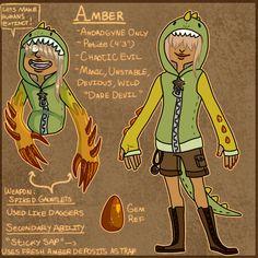 Steven Universe OC: Amber by BitterBile