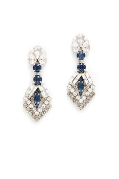 Midnight Mystery Crystal Arrow Earrings by Tova