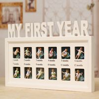 Baby's First Year Picture Frame ,Hanging Decorative Photo Frame Free Shipping CM-FHD0001