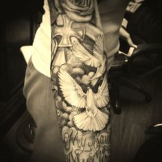 Dove sleeve tattoos - 55 Peaceful Dove Tattoos  <3 !