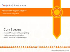 Google analytics advanced training. 100% from Cory Digital.