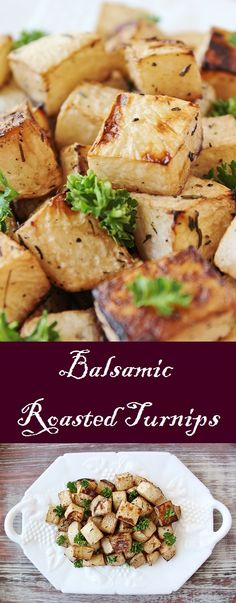 These simple roasted turnips inspired by Wuthering Heights use balsamic vinegar to give a humble vegetable a little flair. Turnip Recipes, Vegetable Recipes, Vegetarian Recipes, Cooking Recipes, Healthy Recipes, Recipes For Turnips, Vegetable Entrees, Clean Eating, Cooking