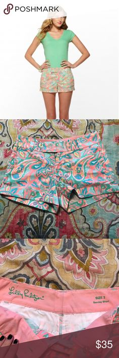 EUC Lilly Pulitzer make a splash Barclays shorts Adorable and bright, lilly pulitzer barclay shorts in make a splash sand bar blue. No signs of wear other than the two tiny holes where the price tags were as pictured. Smoke free home, bundle for the best deal! No trades cross posted Lilly Pulitzer Shorts