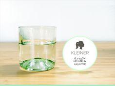 KLEINER / Ø 7-7,5CM / HELLGRÜN (Glas / Becher) von Gläserne Transparenz auf DaWanda.com
