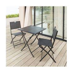 Ensemble table et chaises pliantes de jardin - 8 places ...