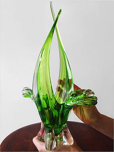 1960's EXQUISITE CHALET ART GLASS VASE MURANO MID-CENTURY MODERN EAMES ERA Blown Glass Art, Art Of Glass, Art Deco Glass, Glass Vase, Mosaic Glass, Fused Glass, Colored Vases, Bottle Art, Vases Decor