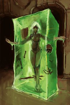 Slime Monster Girl | 30 Day Monster Girl Challenge - 3 - slime by bloodrizer