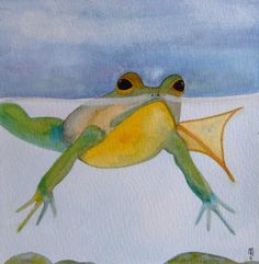 Painting watercolor toad Crapaud by CelineArtGalerie on Etsy, €40.00