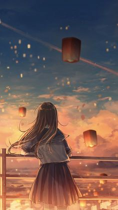 Anime Backgrounds Wallpapers, Anime Scenery Wallpaper, Landscape Wallpaper, Cute Anime Wallpaper, Anime Artwork, Pretty Wallpapers, Cute Cartoon Wallpapers, Animes Wallpapers, Sky Anime