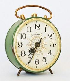 green clock.