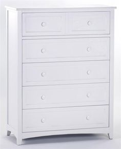 School House 5-Drawer Chest Finish: White $619.53 (36% OFF)