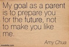 My parenting style from the get go. Hard but so necessary.
