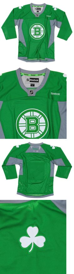 Tops Shirts and T-Shirts 175521: Reebok Nhl Youth Boys Boston Bruins St. Patricks Day Home Replica Jersey - Green -> BUY IT NOW ONLY: $39.95 on eBay!
