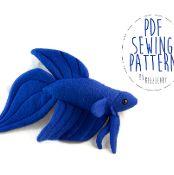 Stuffed Animal Betta Fish (3 Tail Types) - via @Craftsy