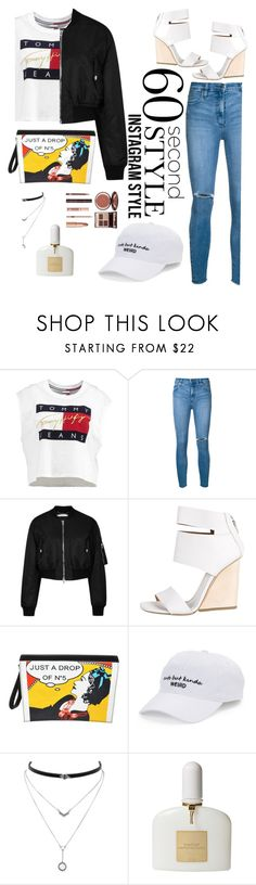 """60 second style: Instagram Style"" by dinereyes ❤ liked on Polyvore featuring Tommy Hilfiger, Nobody Denim, Givenchy, Vic Matié, Chanel, SO, Jessica Simpson, Tom Ford, Charlotte Tilbury and 60secondstyle"