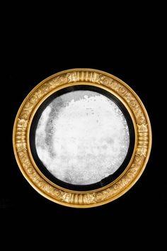 Regency Period Giltwood Convex Mirror (Ref No. 2655) - Windsor House Antiques