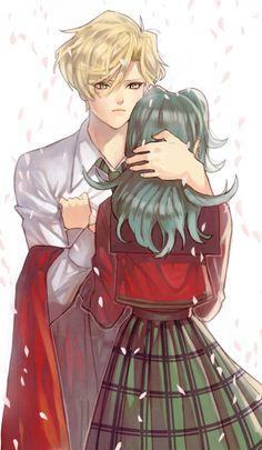 Haruka and Michiru sakura...
