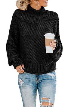 Eoeth Women Solid Color Casual Sweaters Side Zipper Turtleneck Blouse Warm Winter Long Sleeve Pullover Sweatshirt Tops