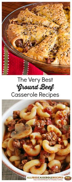 LOVE these ground beef casserole recipes. They're super easy and make for great weeknight dinners.