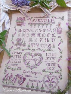 Lavender Sampler de Cuore e Batticuore - Grilles Point de Croix - Broderie - Casa Cenina