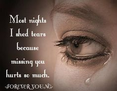 Have cried every day since you left Mom and I know you would not want me to but I Miss You so so much!!!!