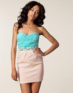 PARTY DRESSES - ELISE RYAN / BANDEAU WAIST TRIM DRESS - NELLY.COM