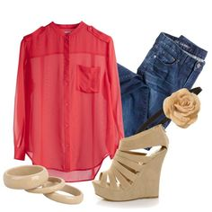 College Outfit- replace heels with nude flats/sandals