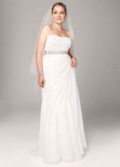 Strapless Asymmetrical Davids Bridal