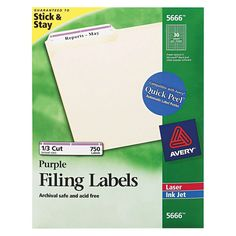 Avery 8366 Permanent Self-Adhesive Laser/Inkjet File Folder Labels- White- Social Media Services, Social Media Marketing, File Folder Labels, Consumer Products, Adhesive, Self, Packing, Education, Words