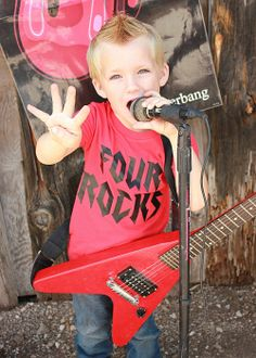 Four Rocks - Birthday Shirt for Your Rock Star - Customize age. $25.00, via Etsy.