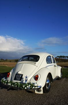 VW beetle wedding car hire Exeter, Devon, south west England, UK - 1 for the DIY bride and groom