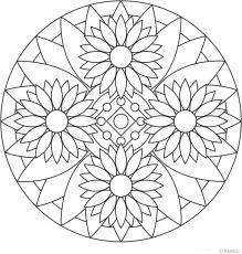Free mandalas coloring  Flower Mandalas  Flower Mandala Design 16